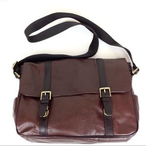 Fossil Leather Briefcase Computer Bag @